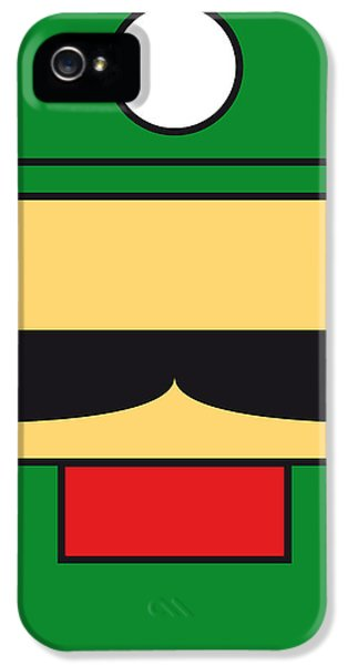 Video Game Art iPhone 5 Cases - My Mariobros Fig 02 Minimal Poster iPhone 5 Case by Chungkong Art