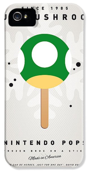 Video Game Art iPhone 5 Cases - My NINTENDO ICE POP - 1 up Mushroom iPhone 5 Case by Chungkong Art