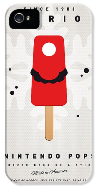 Video Game Art iPhone 5 Cases - My NINTENDO ICE POP - Mario iPhone 5 Case by Chungkong Art