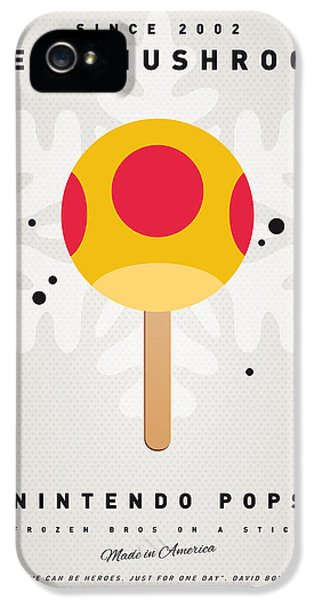 Video Game Art iPhone 5 Cases - My NINTENDO ICE POP - Mega Mushroom iPhone 5 Case by Chungkong Art