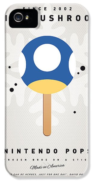 Video Game Art iPhone 5 Cases - My NINTENDO ICE POP - Mini Mushroom iPhone 5 Case by Chungkong Art