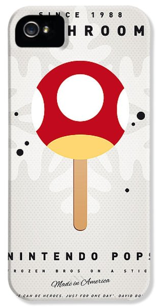 Video Game Art iPhone 5 Cases - My NINTENDO ICE POP - Mushroom iPhone 5 Case by Chungkong Art