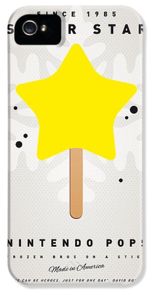 Video Game Art iPhone 5 Cases - My NINTENDO ICE POP - Super Star iPhone 5 Case by Chungkong Art