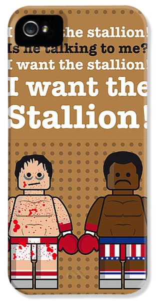 Balboa iPhone 5 Cases - My rocky lego dialogue poster iPhone 5 Case by Chungkong Art