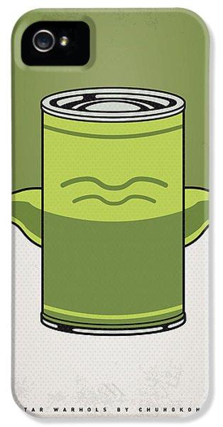 Yoda iPhone 5 Cases - My Star Warhols Yoda Minimal Can Poster iPhone 5 Case by Chungkong Art