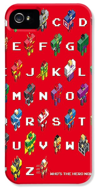 Flash iPhone 5 Cases - My Super ABC minimal poster iPhone 5 Case by Chungkong Art