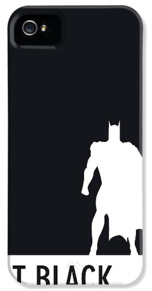 Spider iPhone 5 Cases - My Superhero 02 Bat Black Minimal poster iPhone 5 Case by Chungkong Art