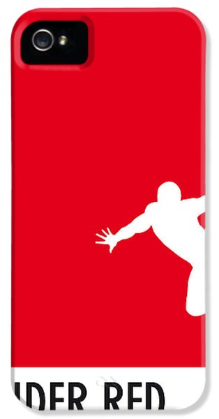 Spider iPhone 5 Cases - My Superhero 04 Spider Red Minimal poster iPhone 5 Case by Chungkong Art