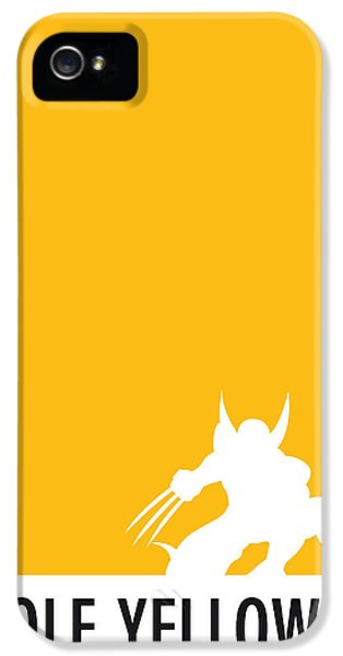 Spider iPhone 5 Cases - My Superhero 05 Wolf Yellow Minimal poster iPhone 5 Case by Chungkong Art