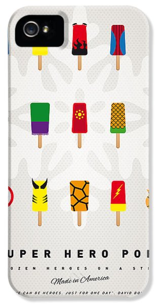 Retro iPhone 5 Cases - My SUPERHERO ICE POP UNIVERS iPhone 5 Case by Chungkong Art