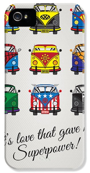 Power iPhone 5 Cases - MY SUPERHERO-VW-T1-universe iPhone 5 Case by Chungkong Art