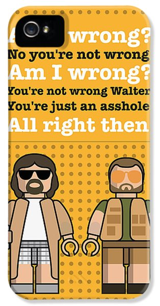My The Big Lebowski Lego Dialogue Poster IPhone 5 / 5s Case by Chungkong Art