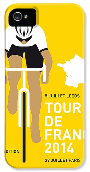 Motion Picture iPhone 5 Cases - My Tour De France Minimal Poster 2014 iPhone 5 Case by Chungkong Art