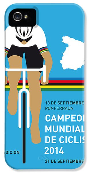 Spain iPhone 5 Cases - MY UCI Road World Championships MINIMAL POSTER 2014 iPhone 5 Case by Chungkong Art