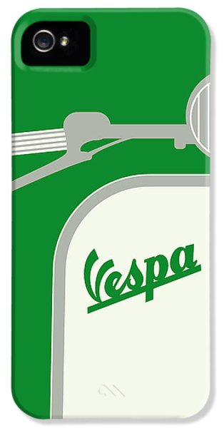 My Vespa - From Italy With Love - Green IPhone 5 / 5s Case by Chungkong Art