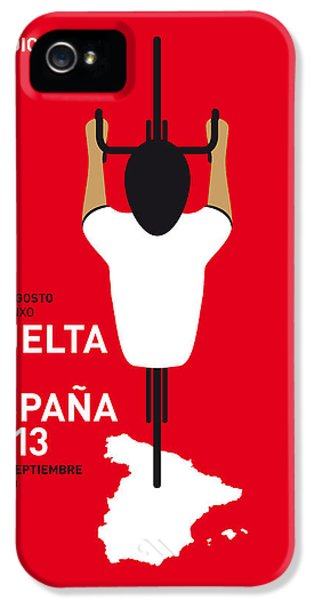 Spain iPhone 5 Cases - My Vuelta A Espana Minimal Poster - 2013 iPhone 5 Case by Chungkong Art