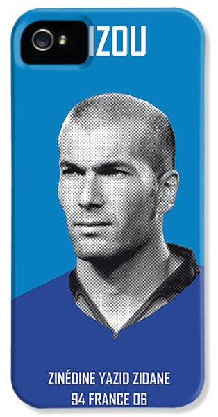My Zidane Soccer Legend Poster IPhone 5 / 5s Case by Chungkong Art