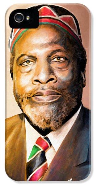 Mzee Jomo Kenyatta IPhone 5 / 5s Case by Anthony Mwangi