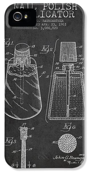 Nail Polish Applicator Patent From 1963 - Dark IPhone 5 / 5s Case by Aged Pixel