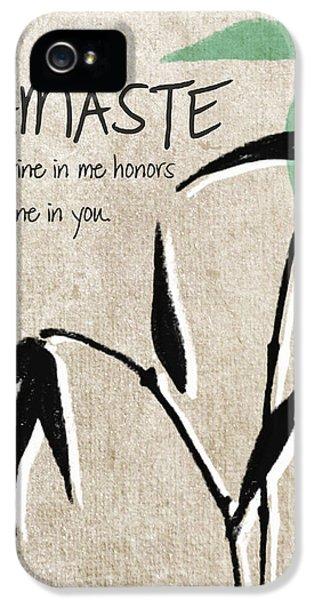 Namaste Greeting Card IPhone 5 / 5s Case by Linda Woods