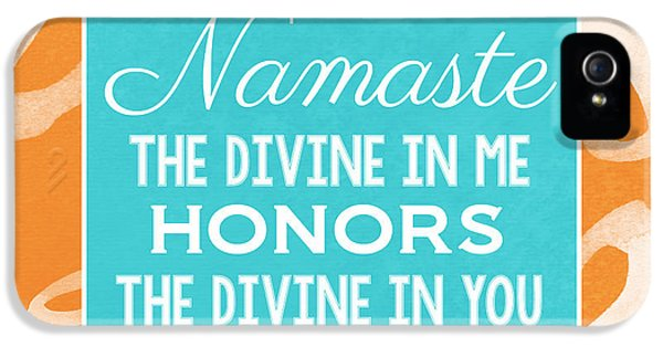 Honor iPhone 5 Cases - Namaste Watercolor Flowers iPhone 5 Case by Linda Woods