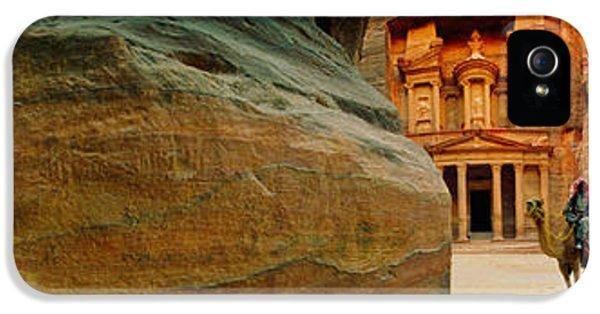 Al-khazneh iPhone 5 Cases - Narrow Passageway At Al Khazneh, Petra iPhone 5 Case by Panoramic Images