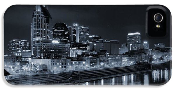 Nashville Skyline At Night IPhone 5 / 5s Case by Dan Sproul
