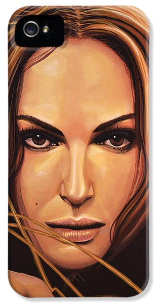 Moviestar iPhone 5 Cases - Natalie Portman iPhone 5 Case by Paul  Meijering