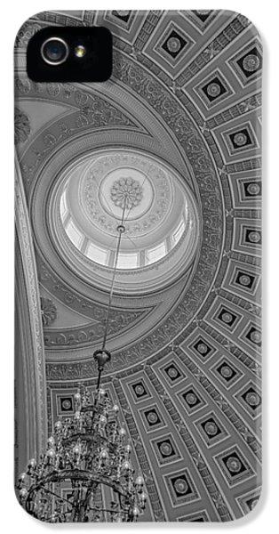 House Of Representatives iPhone 5 Cases - National Statuary Rotunda BW iPhone 5 Case by Susan Candelario