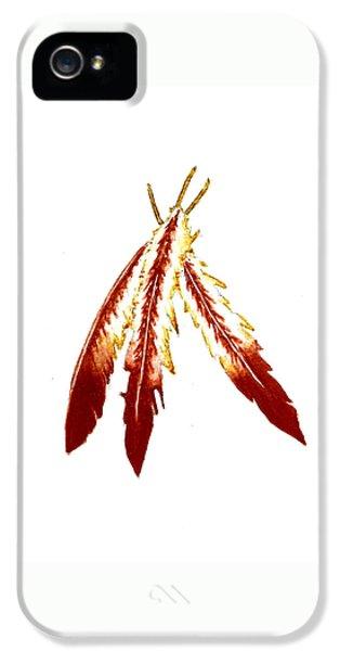 Native American Feathers  IPhone 5 / 5s Case by Michael Vigliotti