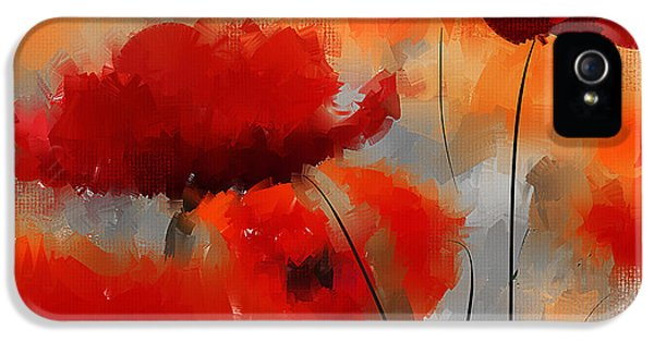 Poppy iPhone 5 Cases - Natural Enigma iPhone 5 Case by Lourry Legarde