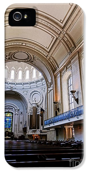 House Md iPhone 5 Cases - Naval Academy Chapel Interior iPhone 5 Case by Olivier Le Queinec