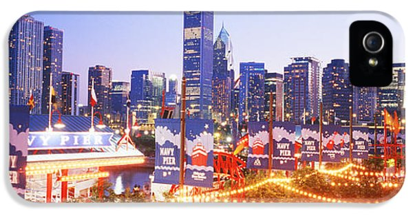 Il iPhone 5 Cases - Navy Pier Chicago Il iPhone 5 Case by Panoramic Images
