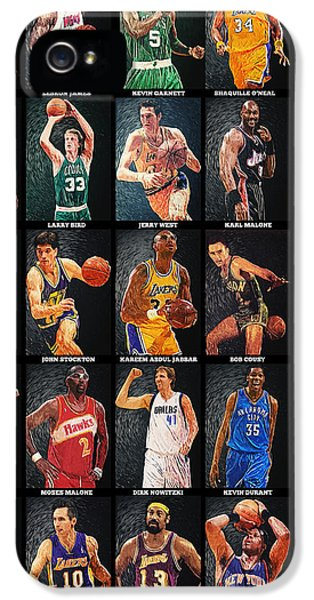 Nba iPhone 5 Cases - NBA Legends iPhone 5 Case by Taylan Soyturk