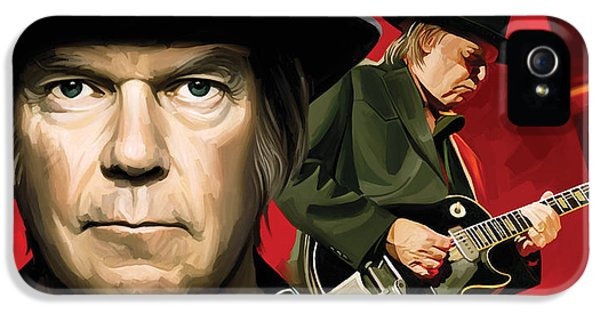 Neil Young Artwork IPhone 5 / 5s Case by Sheraz A