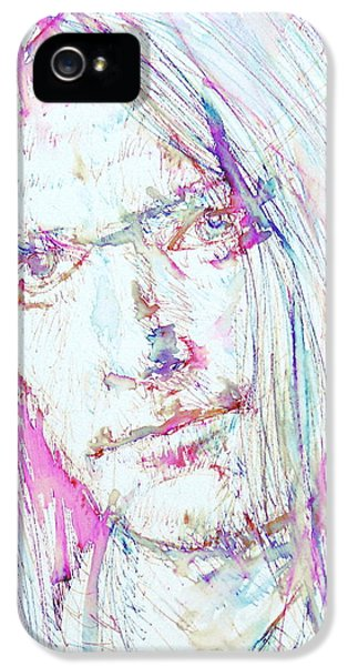 Neil Young - Colored Pens Portrait IPhone 5 / 5s Case by Fabrizio Cassetta