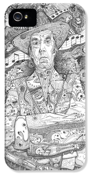 Neil Young Lives Music IPhone 5 / 5s Case by Lance Graves