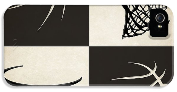 Net iPhone 5 Cases - Nets Ball And Hoop iPhone 5 Case by Joe Hamilton