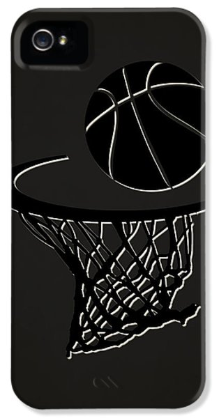 Net iPhone 5 Cases - Nets Team Hoop2 iPhone 5 Case by Joe Hamilton