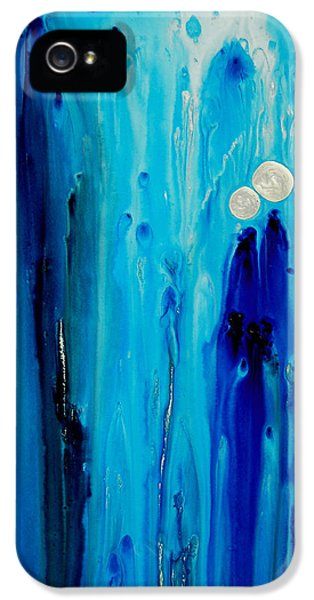 Abstract Canvas iPhone 5 Cases - Never Alone By Sharon Cummings iPhone 5 Case by Sharon Cummings