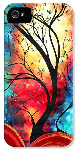 Whimsy iPhone 5 Cases - New Beginnings Original Art by MADART iPhone 5 Case by Megan Duncanson