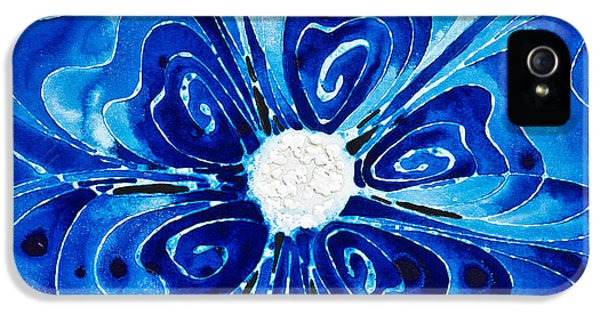 New Blue Glory Flower Art - Buy Prints IPhone 5 / 5s Case by Sharon Cummings