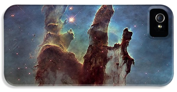 Pillar iPhone 5 Cases - New Pillars of Creation HD Square iPhone 5 Case by Adam Romanowicz