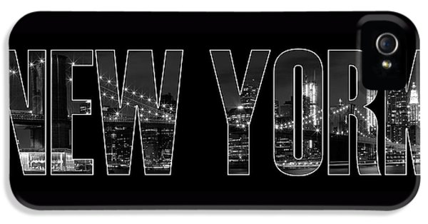 New York City Brooklyn Bridge Bw IPhone 5 / 5s Case by Melanie Viola