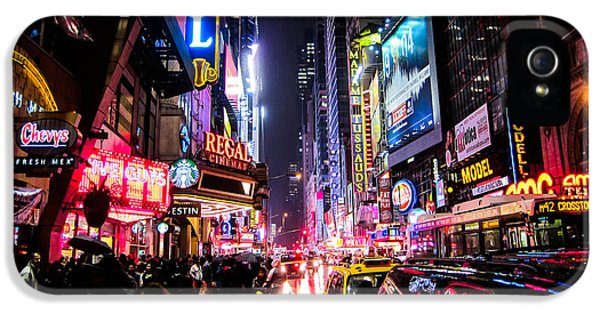 Times Square iPhone 5 Cases - New York City Night iPhone 5 Case by Nicklas Gustafsson