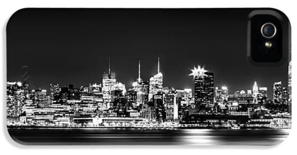 Midtown iPhone 5 Cases - New York City Skyline - BW iPhone 5 Case by Az Jackson
