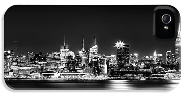 New York City Skyline - Bw IPhone 5 / 5s Case by Az Jackson