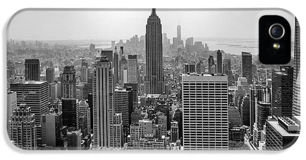 Midtown iPhone 5 Cases - New York Moody Skyline  iPhone 5 Case by Az Jackson