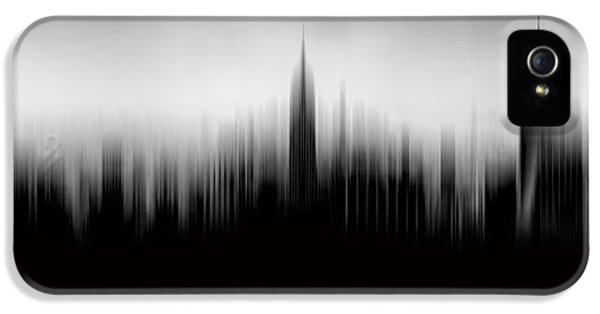 Midtown iPhone 5 Cases - New York Skyline Abstract iPhone 5 Case by Az Jackson