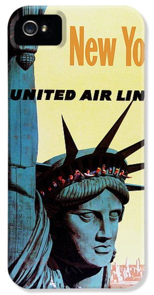 New York United Airlines IPhone 5 / 5s Case by Mark Rogan
